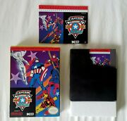 Rare Captain America And The Avengers Nintendo Nes 1991 Complete And Perfect 🔥