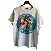 Vintage Looney Tunes Character Shirt Porky Pit Bugs Bugs Bunny Tazmanian Devil