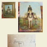 John Frederick Herring Oil Painting Carriage Driver Queens Service 18th Century