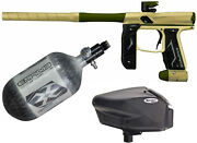 Empire Axe 2.0 Paintball Gun Dust Tan/olive - 68/4500 Tank - Halo Too Electric