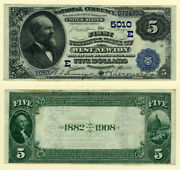 West Newton Pa 5 1882 Db National Bank Note Ch 5010 First Nb Xf/au