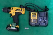 Dewalt Dcd710 12v Max 3/8 Cordless Drill Driver With Battery And Charger.