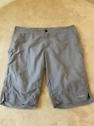 Columbia Sportswear Co Womans Size 6 Omni Dry Lightweight Athletic Shorts Grey