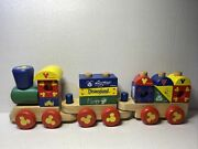 Melissa And Doug Disney Mickey Mouse And Friends Wooden Blocks Stacking Train Set