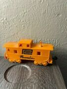 Vintage Marx Plastic Train Caboose Pacemaker Toy Yellow Car