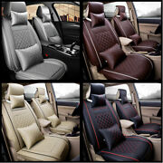 Universal Waterproof 5-seat Pu Leather Car Suv Dog Pet Seat Cover Set Front+rear
