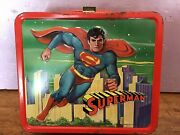 Vintage 1978 Superman Metal Lunchbox With Thermos