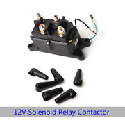 Solenoid Relay Combo Contactor And Winch Thumb Rocker Switch Set Fits For Atv Utv