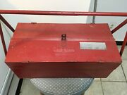 Vintage Snap On 1920andrsquos-1930andrsquos Portable Metal Cantilever Lid Tool Box. Pre-owned