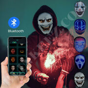 Led Programmable Full Face Mask App Control Halloween Rechargeable Shining Mask