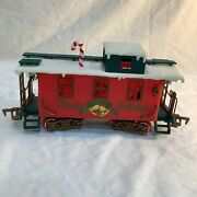 New Bright Train Caboose North Pole Winter Belle Happy Holidays