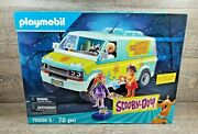 Playmobil Scooby-doo Mystery Machine 70286 + Ghost Card And Sticker 72 Pcs New