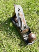 Vintage Stanley Bailey No 4 Plane Made In England Wood Antique Old Carpentry