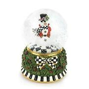 Globe And Music Box, Christmas Decorations, Holiday Collectibles Snowman Snow