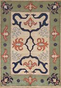 5and039x6and039 Geometric Ziegler Oriental Area Rug Hand-knotted Wool Classic Foyer Carpet