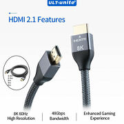 8k 60hz 4k 120hz Hdmi Cable Video Cord 48gbps High Speed For Amplifier Tv High