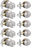 Classic Ball Shaped Entrance Door Knobs With Double Cylinder, One Keyway Keyed A