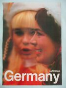 Lufthansa German Airlines Original Japan A1 Double-sided Poster 1970's Ex Rare