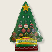 Melissa And Doug Wooden Christmas Tree Advent Calendar Magnetic Ornaments New