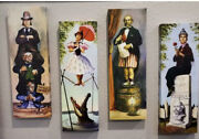 Haunted Mansion Stretching Portraits Canvas Prints 36 X12 4 Panel