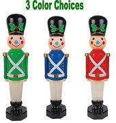 Toy Soldier Vintage Style Blow Mold 42in Lighted Christmas Holiday Decor Video