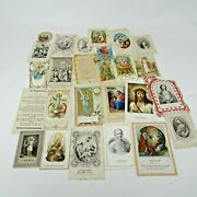 Lot Of 120 Antique Vintage Holy Prayer Cards Religious Catholic Lace Memorial