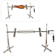 Bbq Grill Barbecue Pig Chicken Rotisserie Spit Roaster Tool Stainless Steel Sale