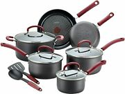 T-fal Ultimate Hard Anodized Dishwasher Safe Nonstick Cookware Set12-piece Red