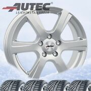 4 Winter Wheels And Tyres Polaric Sil 205/55 R17 95v For Jaguar Xe Michelin Alpin
