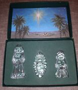 Waterford Marquis Miniature Nativity The Holy Family With Box