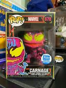 Funko Pop Marvel 678 Carnage Black Light Exclusive With Protector Case