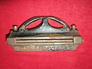 Pat'd. 1893 Antique Vintage Pike Saw Jointer With File Tool