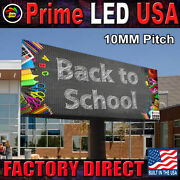 Full Color Programmable Double Sided Digital Led Sign P10 Series 1.5 X 4 Ft