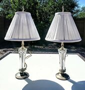 Pair Of Matching Waterford Fine Cut Crystal Table Lamps - Brand New With Tags