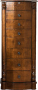 Hives And Honey Traditional Jewelry Armoire With Mirror 38 Antique Walnut
