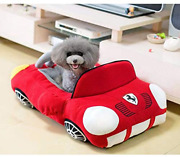Cool Sports Car Shaped Pet Dog Bed House Small Dog Cat House Waterproof Warm Sof