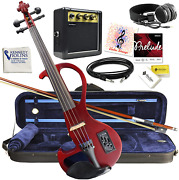 Kennedy Violins Electric Violin Bunnel Edge Outfit 4/4 Full Sizered- Electric