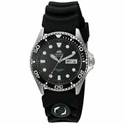 Orient Men's Ray Ii Rubber Japanese Automatic Stainless Steel Diving Watch Black