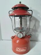 Vintage Coleman 200a Sunshine Of The Night 11 / 1970 Single Mantle Red Lantern