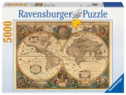 17411 Ravensburger Antique World Map 5000pc [adult Jigsaw Puzzle] New In Box
