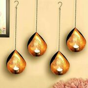 Metal Wall Hanging Sconces With Tealight Candles Holders Pack Of 4
