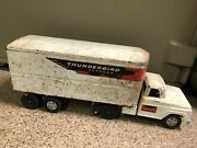 Tonka Thunderbird Express Delivery Semi Steel Toy Truck - Two Pieces