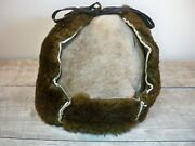 Vintage Shearling Bomber Riding Motorcycle Hunting Trooper Cap Hat Size Large