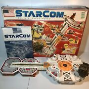 Coleco Starcom Starbase Station 1986 W/ Manual And Damaged Box No Figure/missiles