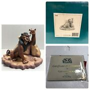 Disney Wdcc The Lion King Scar Life's Not Fair, Is It Figurine W/box And Coa