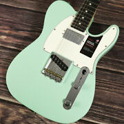 Fender American Performer Telecaster With Humbucking Rosewood Satin Surf Green