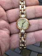 Antique Or Vintage 18ct Gold Tudor Rolex And 0.32ct Diamonds Watch Work Perfectly