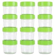 Glass Baby Food Storage Containers,set Of 12-4 Ounce,glass Food Jars With Labels