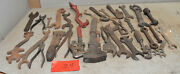 25 Vintage Farm Tractor Implement Mechancis Wrench Collectible Early Tool Lot Z4