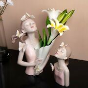 Butterfly Girl Resin Sculpture Character Model Vase Modern Storage Statues Home